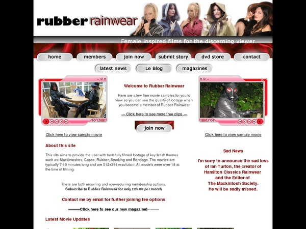 How To Get Into Rubber Rainwear Free